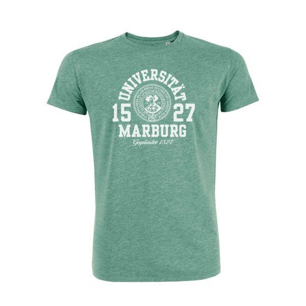Herren Organic T-Shirt, heather green, marshall