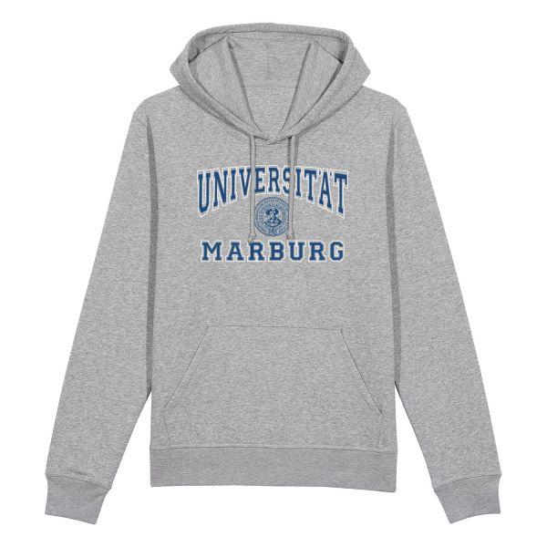 Herren Organic Hooded Sweatshirt, heather grey, classic