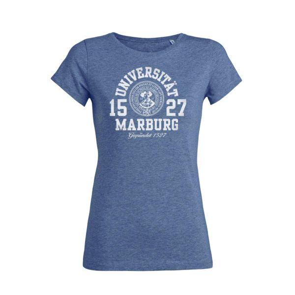 Damen Organic T-Shirt, mid heather blue, marshall