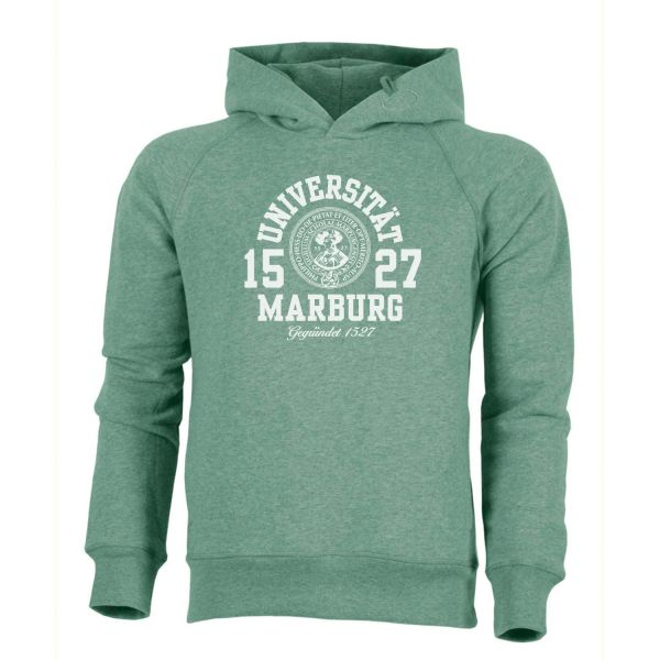 Herren Organic Hooded Sweatshirt, heather green, marshall