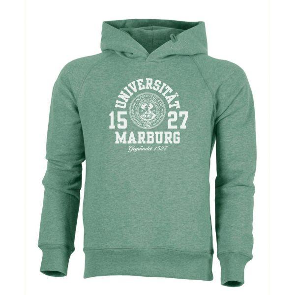 Herren Organic Hooded Sweatshirt, heather green, marshall