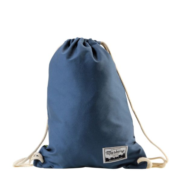 Organic Gymbag, airforce blue, label