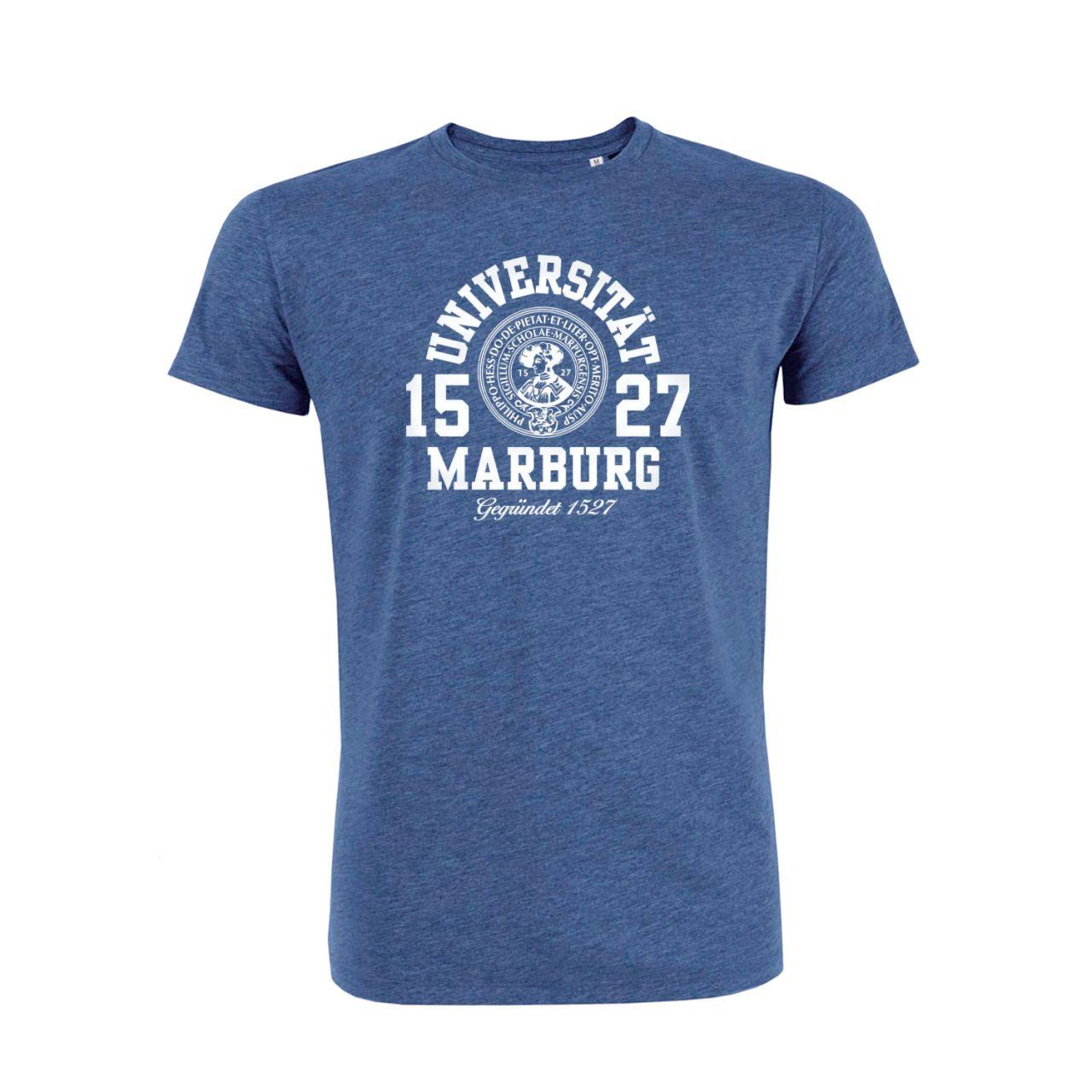 Herren Organic T-Shirt, dark heather indigo, marshall