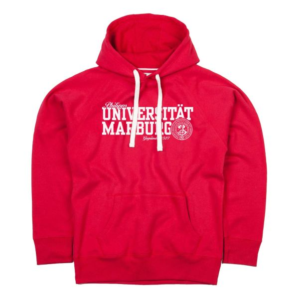 Herren Deluxe Hooded Sweatshirt,warm red, navy