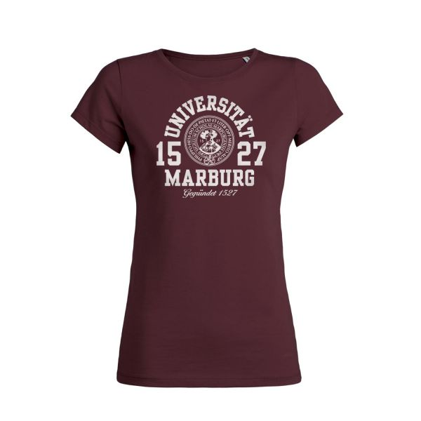 Damen Organic T-Shirt, burgundy, marshall