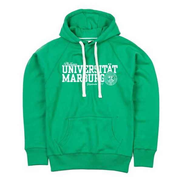 Damen Deluxe Hooded Sweatshirt, college green, navy