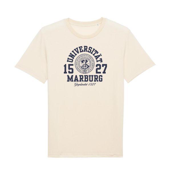 Herren Organic T-Shirt, natural raw, marshall.navy