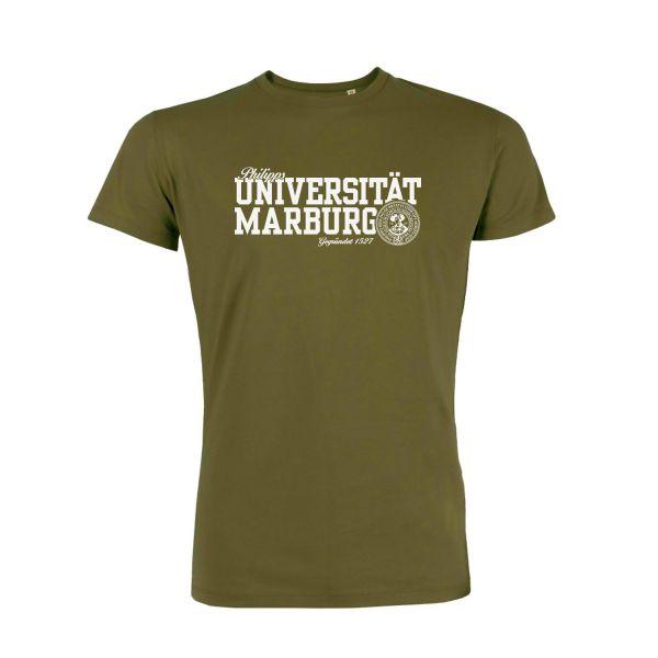 Unisex Organic T-Shirt, british khaki, navy
