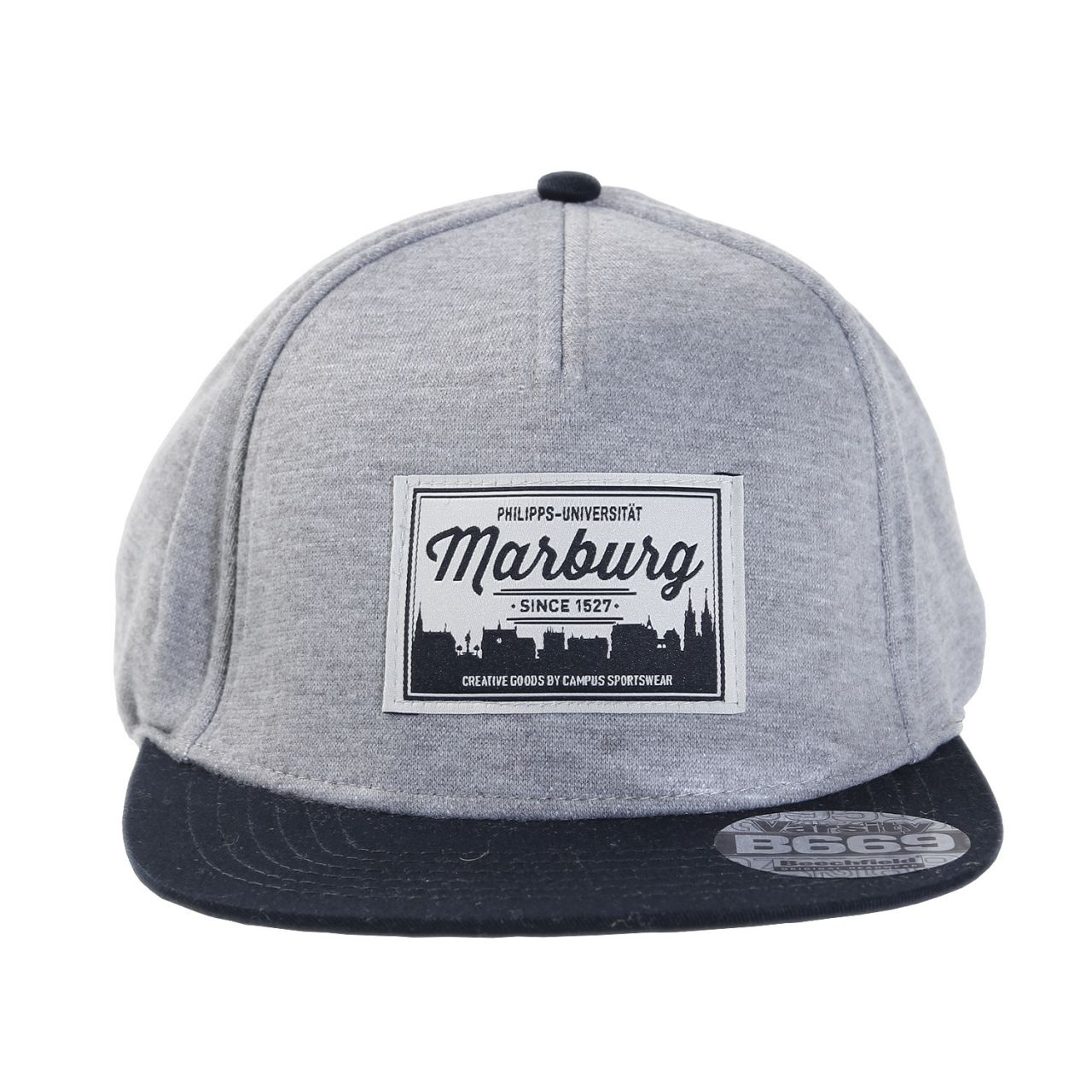 Jersey Cap, grey/navy, label