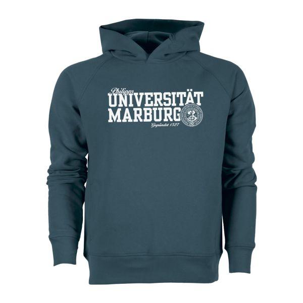 Herren Organic Hooded Sweatshirt, stargazer, navy